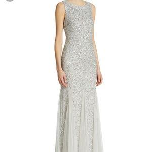 Dresses & Skirts - Aidan Mattox Silver Sequin Gown